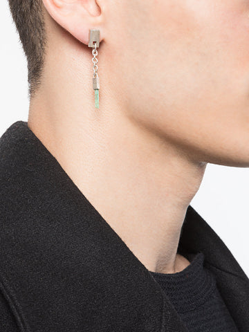 Talisman Cuboid Dangle Earring Emerald