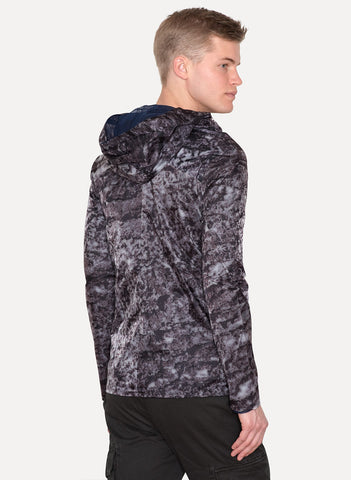 Camouflage Print Hooded Windbreaker Jacket