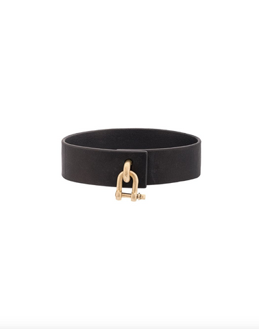 Leather Charm Choker