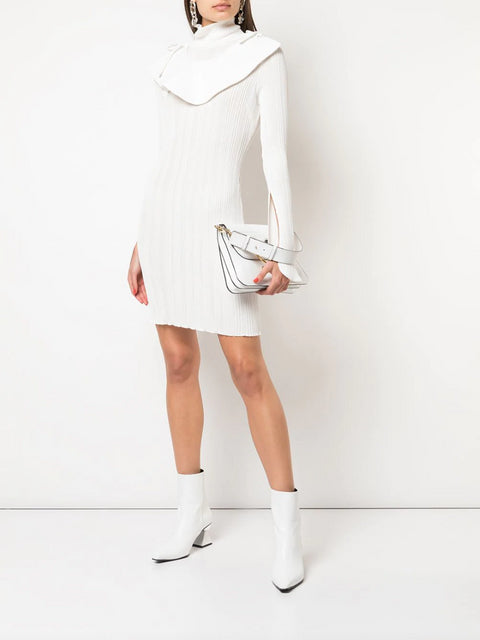 Knitted Bib Jumper Dress