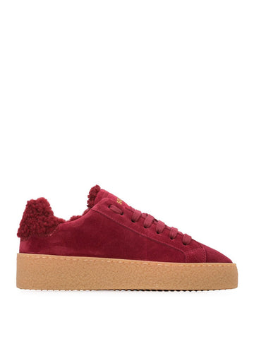 Lace-Up Low Top Sneakers Bordeaux