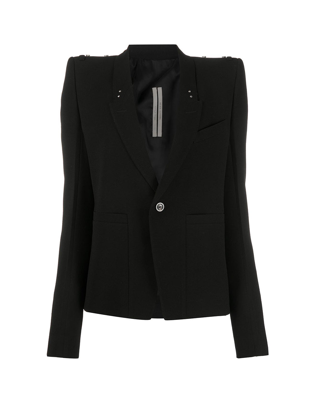 Tecuatl Padded Shoulder Strap Detail Blazer