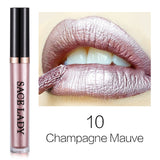 SACE LADY Metallic Liquid Lipstick Waterproof Lipgloss