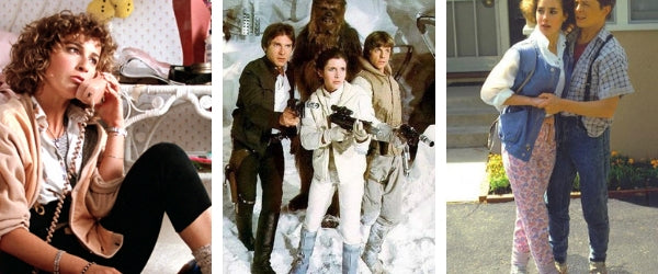 Jennifer Grey, Harrison Ford, Mark Hamill, Carrie Fisher, Claudia Wells - The History of Leggings in Film and TV