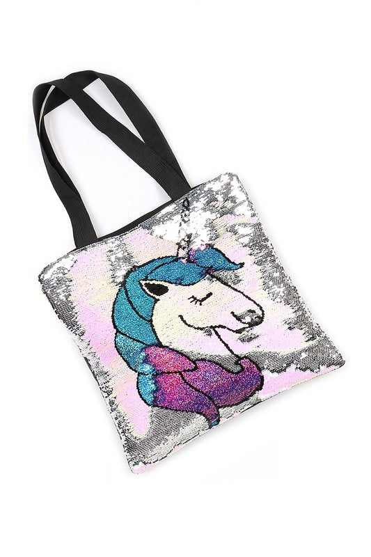Mermaid Sequined Unicorn Shoulder Tote