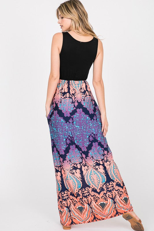 The Kailani- Women's Plus Size Maxi Dress with Pockets