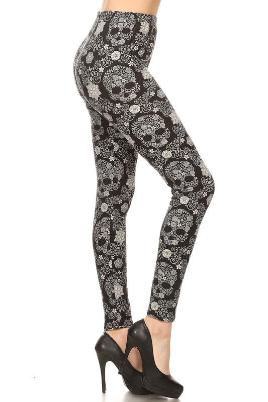 Soulless Sugar Skulls - Women's Plus Size Leggings