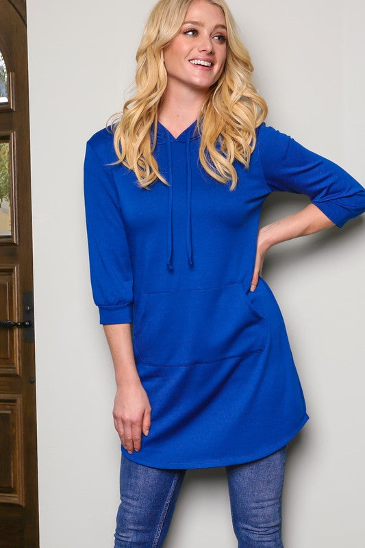 The Penny in Royal Blue - Women's Plus Size Top