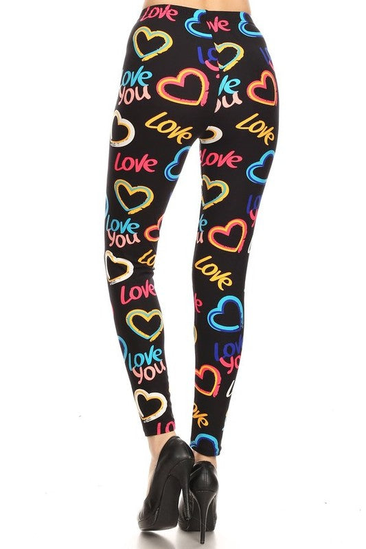 Steal My Heart - Women's Plus 3X/5X Size Leggings