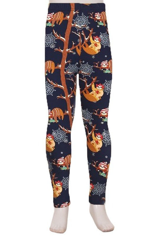 Eat, Sleep and Be Merry - Girls Leggings