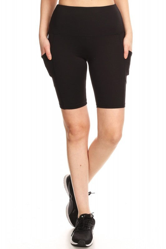 Women's Athletic Shorts in Black