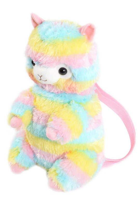 Rainbow Llama Backpack