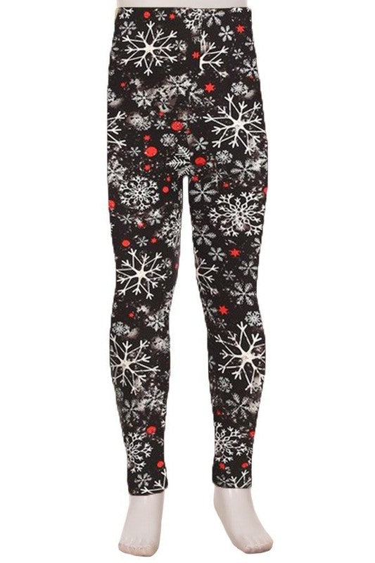 Crystal Snowfall - Girls Leggings