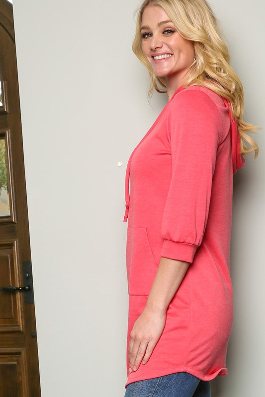The Penny in Coral - Women's Top