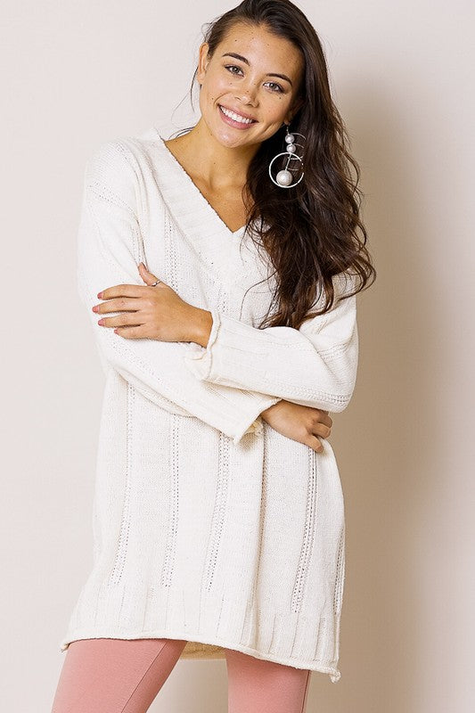 The Gina - Women's Sweater in Cream