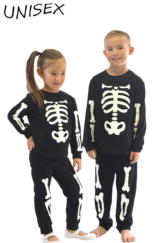 Radioactive Skeletons 2 Piece Outfit - Girls and Boys