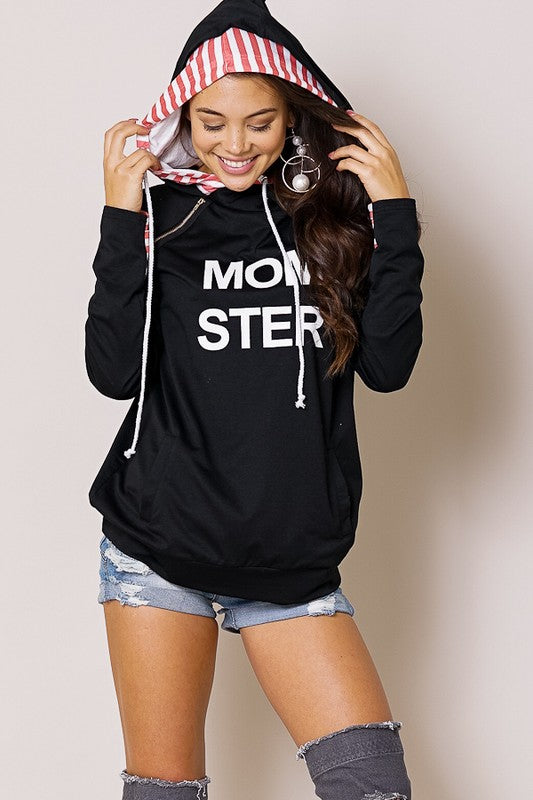 Momster Graphic Hoodie