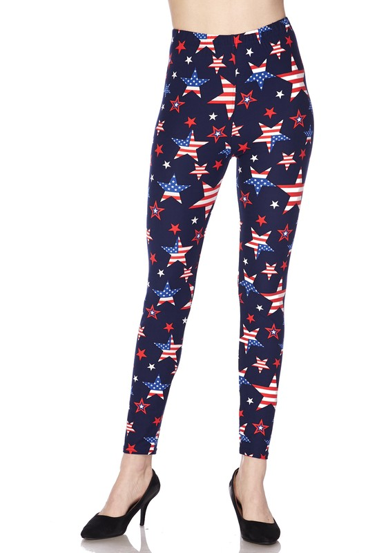 Yankee Doodle Dandy - Women's Plus Size Leggings