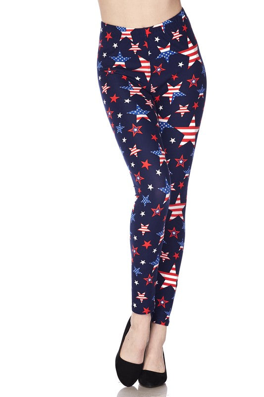 Yankee Doodle Dandy - Women's Extra Plus Size Leggings