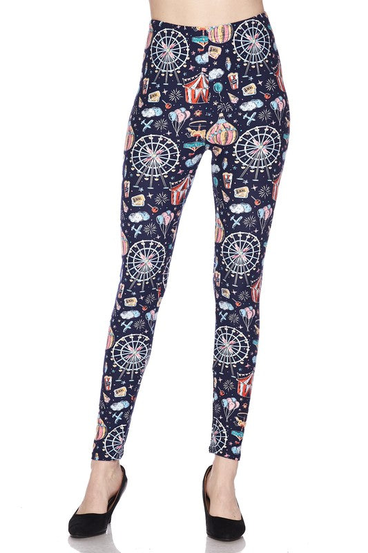 Cotton Candy Carnival - Women's One Size Leggings