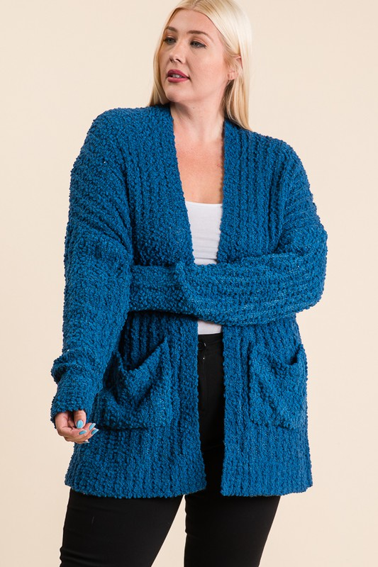 The Jessie - Women's Plus Size Cardigan in Teal