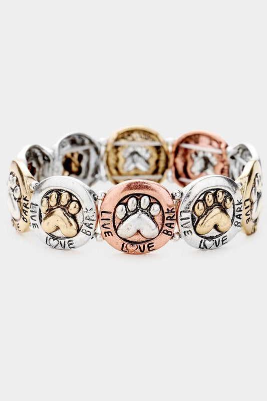 Live Love Bark Stretch Bracelet