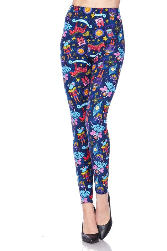 Nutcracker Meets Sugar Plum Fairy - Women's Plus Size Leggings