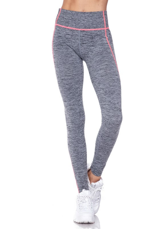 Performance Athletic Legging - Women's Gray with Coral