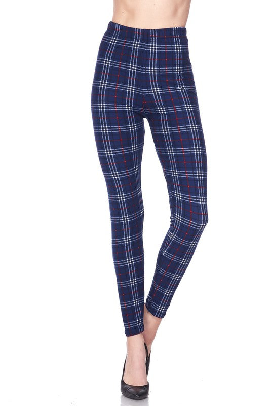 Sophisticated Plaid - Women's Plus Size Leggings