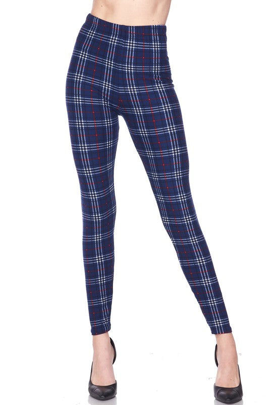 Sophisticated Plaid - Women's One Size Leggings