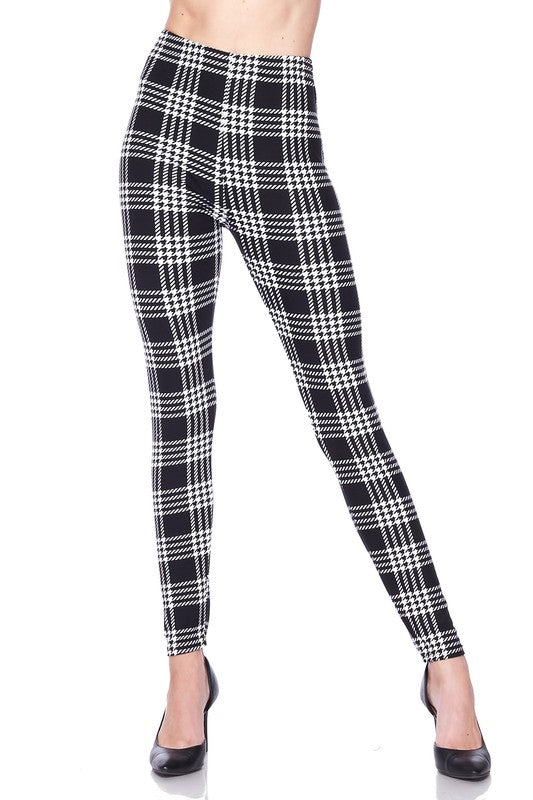 Plaid for Days - Women's Plus Size Leggings