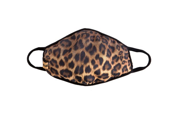 Cheetah Graphic Fabric Face Mask