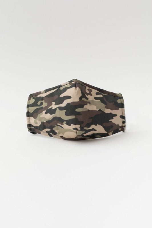 Camouflage Print Mask