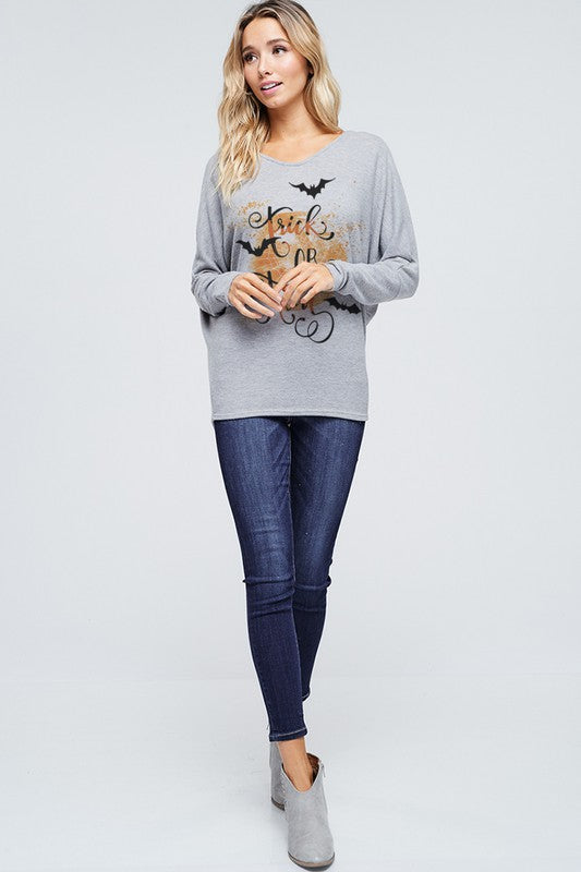 The Trixie - Women's Plus Size Top in Heather Gray