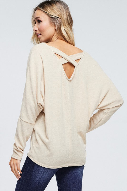 The Trixie - Women's Top in Oatmeal