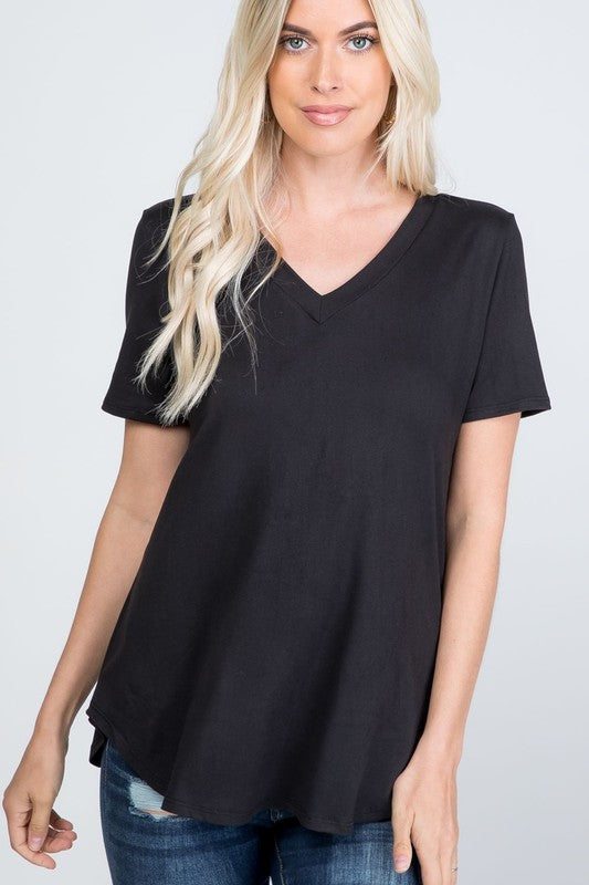 The Eleanor - Women's Plus Size Top in Black