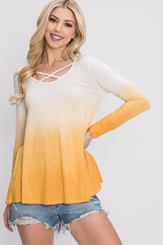 The Shelly - Women's Top in Mustard