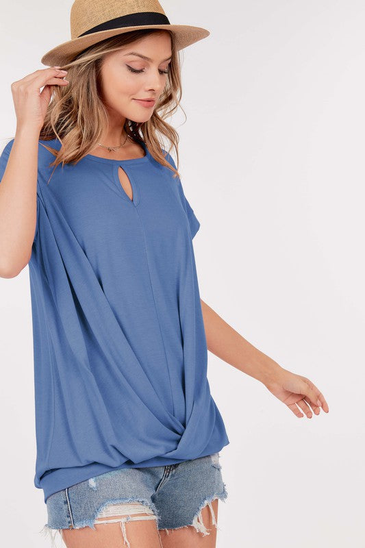 The Christina - Women's Top in Denim Blue