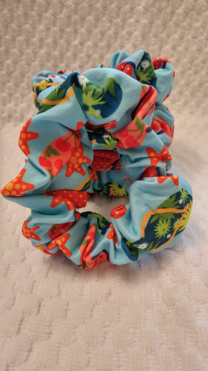 Flippin Through Summer Hair Scrunchie
