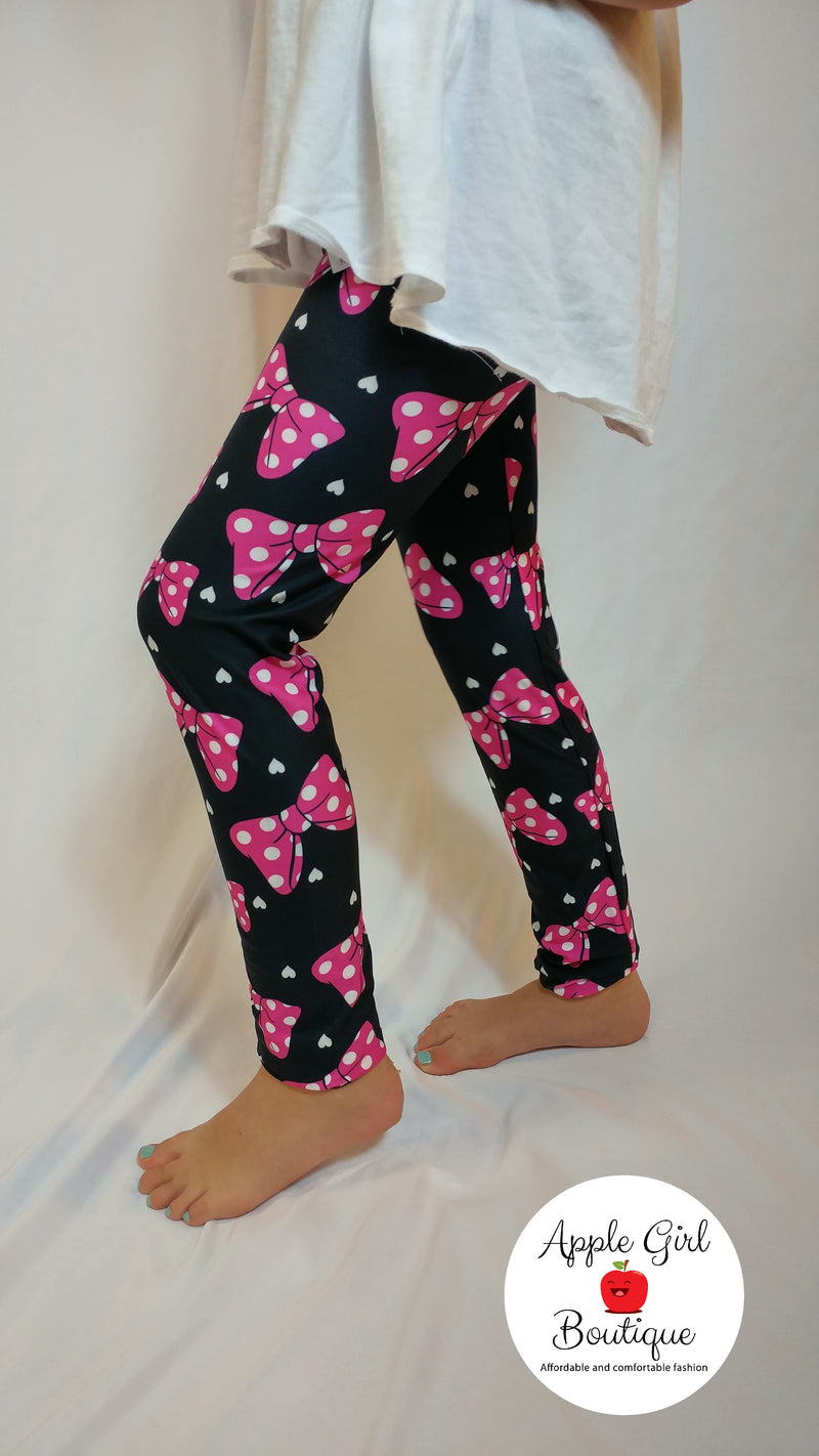 Minnie Bows - Girls Leggings