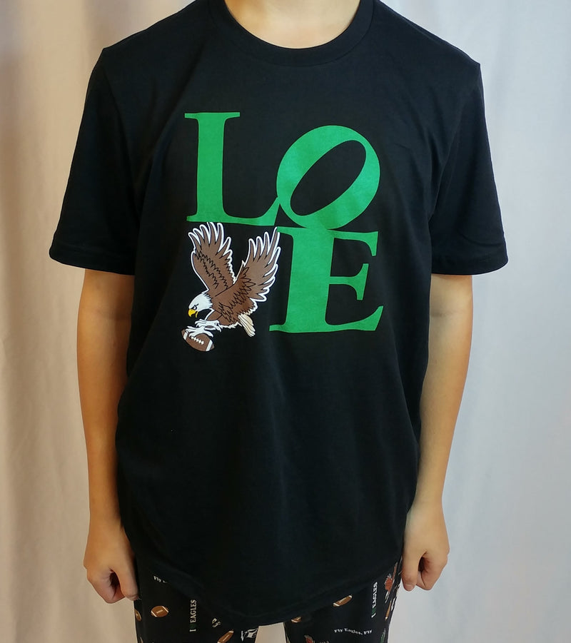Love My Eagles Crew Neck Tee - Unisex Adult