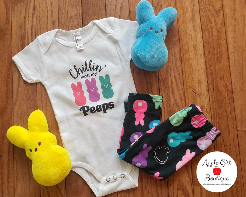 Chillin' With My Peeps Graphic Tee -Toddler Onesie