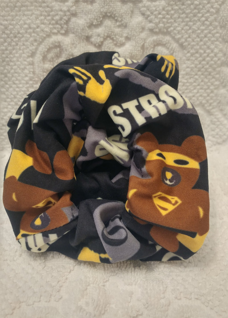 Superhero Childhood Cancer Awareness Scrunchie