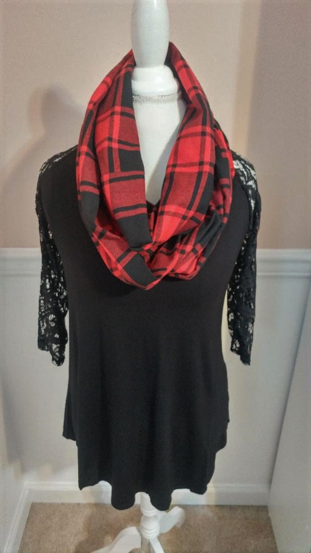 Buffalo Plaid Infinity Pocket Scarf
