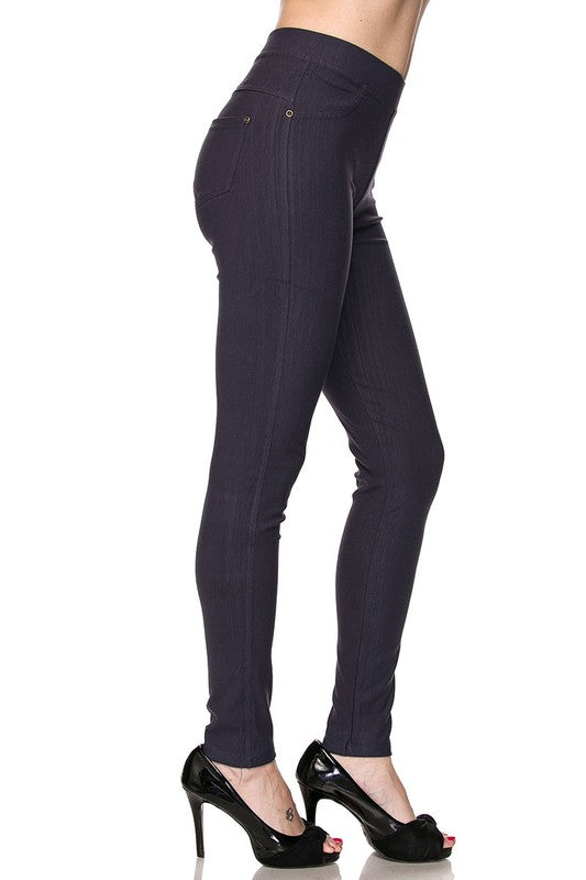 Fashionista Jeggings - Women's Plus Size in Navy Blue