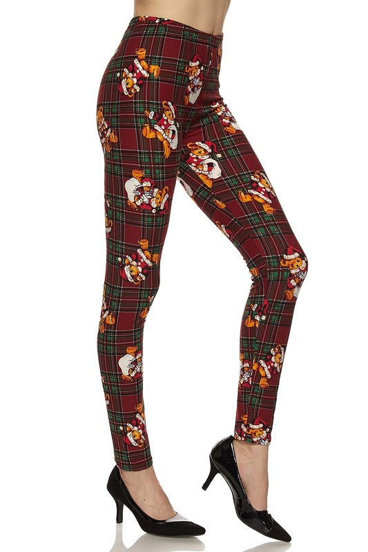 Teddy Claus - Women's Plus Size Leggings