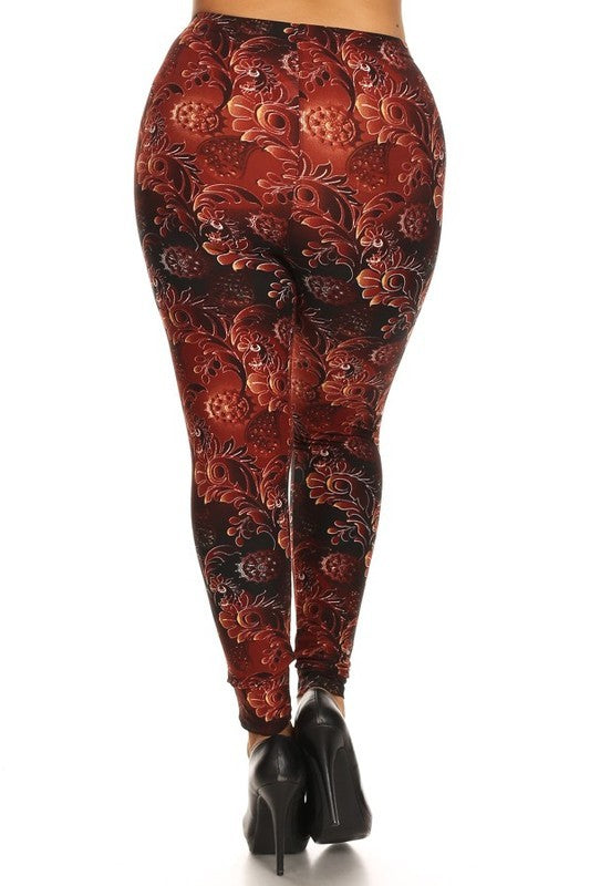 Glowing Garden - Womens Plus Size Leggings