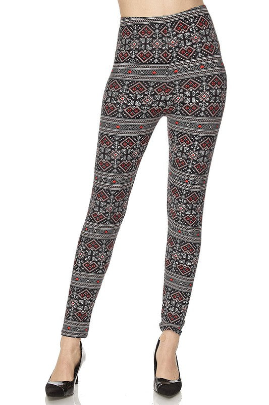 Pixelated Hearts - Women's One Size Leggings