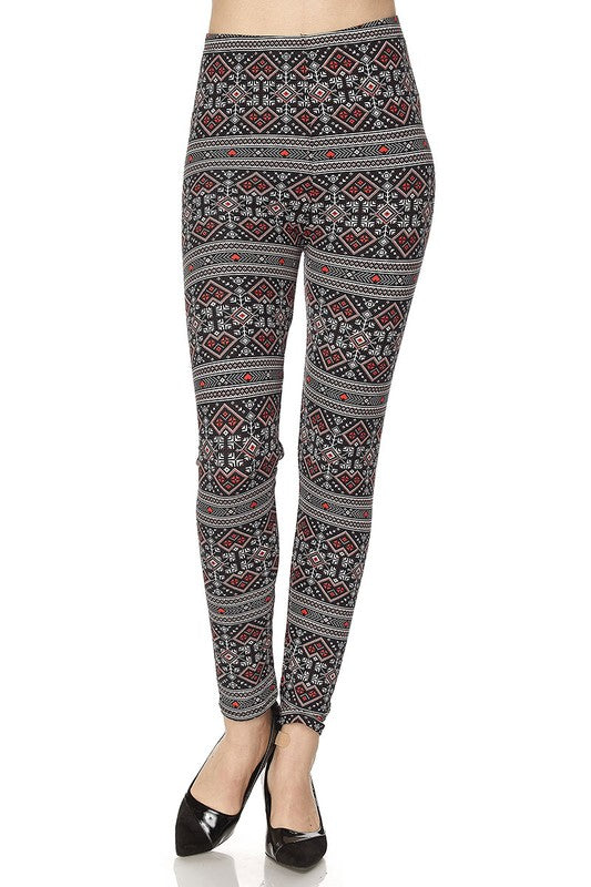 Pixelated Hearts - Women's Plus Size Leggings