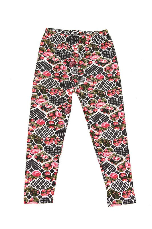 Girl's heart leggings - Apple Girl Boutique